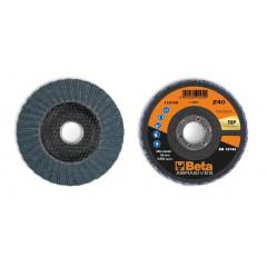 Dischi lamellari con tela abrasiva allo zirconio Supporto in fibra di vetro e lamella doppia - BetaABRASIVES 11218B