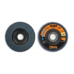 Dischi lamellari con tela abrasiva allo zirconio Supporto in fibra di vetro e lamella singola - BetaABRASIVES 11220A