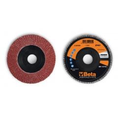 Dischi lamellari con tela abrasiva al corindone Supporto in plastica e lamella singola - BetaABRASIVES 11230B