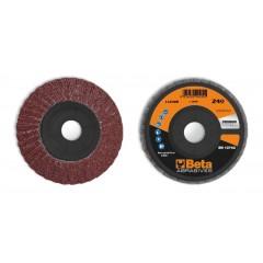 Dischi lamellari con tela abrasiva al corindone Supporto in plastica e lamella doppie - BetaABRASIVES 11232B