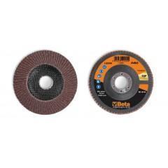 Dischi lamellari con tela abrasiva al corindone Supporto in fibra di vetro e lamella singola - BetaABRASIVES 11234A