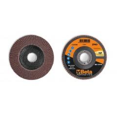 Dischi lamellari con tela abrasiva al corindone Supporto in fibra di vetro e lamella singola - BetaABRASIVES 11234B