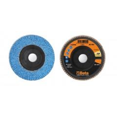 Dischi lamellari con tela abrasiva allo zirconio ceramicato Supporto in plastica e lamella singola - BetaABRASIVES 11240A