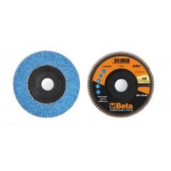 Dischi lamellari con tela abrasiva allo zirconio ceramicato Supporto in plastica e lamella singola - BetaABRASIVES 11240B