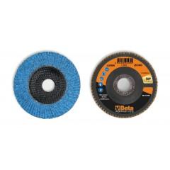Dischi lamellari con tela abrasiva allo zirconio ceramicato Supporto in fibra di vetro e lamella singola - BetaABRASIVES 11242A