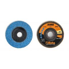 Dischi lamellari con tela abrasiva allo zirconio ceramicato Supporto in fibra di vetro e lamella singola - BetaABRASIVES 11242B