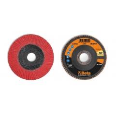 Dischi lamellari con tela abrasiva ceramicata Supporto in fibra di vetro e lamella singola - BetaABRASIVES 11248A