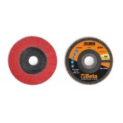 Dischi lamellari con tela abrasiva ceramicata Supporto in fibra di vetro e lamella singola - BetaABRASIVES 11248B