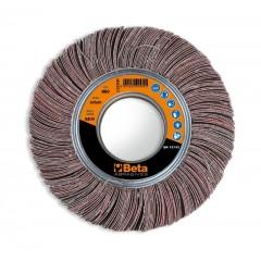 Ruote lamellari con tela al corindone con foro Lamelle frastagliate - BetaABRASIVES 11310G
