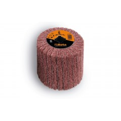 Ruote miste lamelle/tessuto non tessuto per satinatrici In tela abrasiva alternata a fibre sintetiche... - BetaABRASIVES 11420B