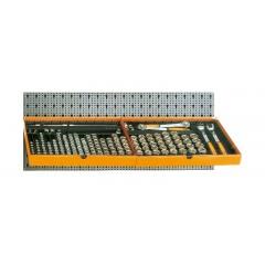 Assortimento 133 utensili, con ganci senza pannello - SHOPinShop 6600 M/125