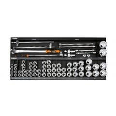 Assortimento 92 utensili, con ganci senza pannello - SHOPinShop 6600 M/131