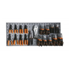 Assortimento di 91 utensili con ganci senza pannello - SHOPinShop 6600 M/244