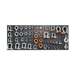 Assortimento 1045 accessori per funi, con ganci senza pannello - SHOPinShop 8600 R/114