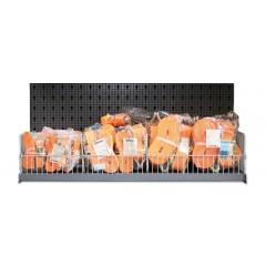 Assortimento 50 cricchetti di ancoraggio con griglie, ripiano e ganci senza pannello - SHOPinShop 8600 R/601