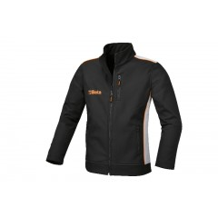 Softshell jacket, made of 100% polyester, 320 g/m2, three-layered, microfibre outer shell, waterproof, breathable intermediate