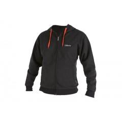 Men's sweatshirt, made of CVC fleece fabric, 60% cotton and 40% polyester, with hood and long zip - Beta 9507U
