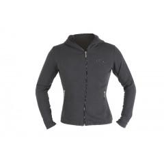 Women's sweatshirt, made of CVC fleece fabric, 60% cotton and 40% polyester, with hood and long zip - Beta 9507D