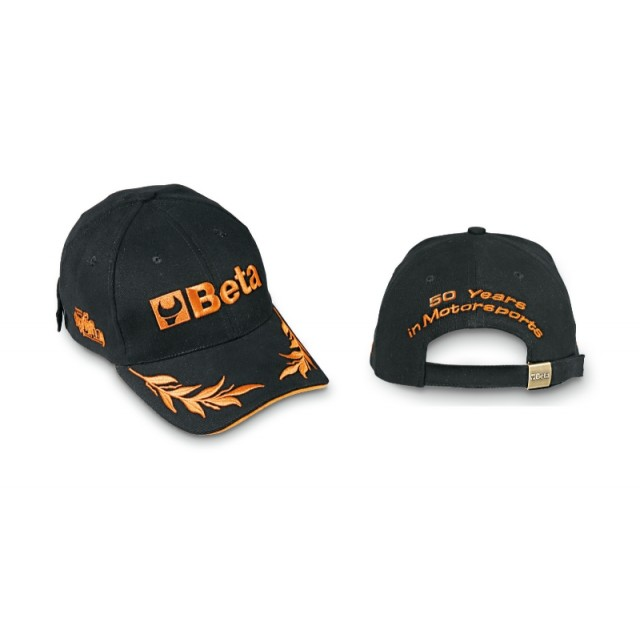 Cappellino, 100% cotone, taglia unica regolabile, ricamo diretto sul frontale, sui lati e sul retro,... - BETACollection 9525/N