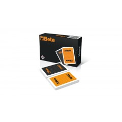 Set of 2 packs of 55 rummy playing cards by Modiano® - Beta 9526RMN