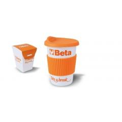 Kubek z pokrywką i nakładką silikonową - Beta 9527MUG