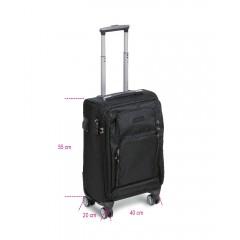 Trolley dimensioni formato cabina con 4 ruote doppie, lucchetto TSA, porta USB + jack 3,5 mm - BETACollection 9544C