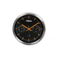 Zegar z termometrem i higrometrem, średnica 26 cm - Beta 9594