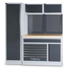 Zestaw mebli warsztatowych systemu C45 - Beta C45/EW