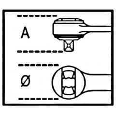 """Cricchetto reversibile  con attacco quadro  maschio 1/4""""  cromato - Beta 900/55Z"""