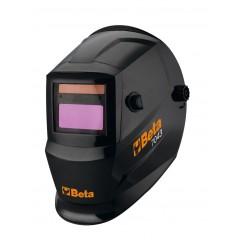 Przyłbica spawalnicza samościemniająca LCD, do spawania metodami: MMA, MIG/MAG, TIG oraz spawania plazmą. Zasilanie: ogniwa