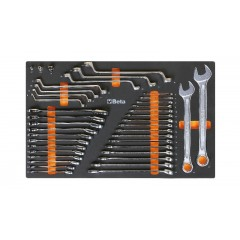 Soft foam tray with tool assortment - Beta M25