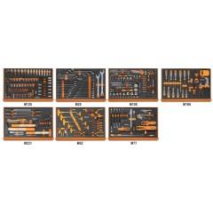 Assortment of 333 tools in soft foam trays - Beta 5988ROAD/7M