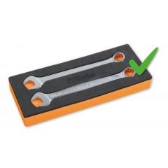Chiavi combinate a forchetta e poligonale piegata cromate - Beta 42NEW