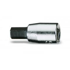 """Chiavi a bussola maschio esagonale con attacco quadro femmina 1/4"""" cromate - inserti bruniti - Beta 900PE/AS"""