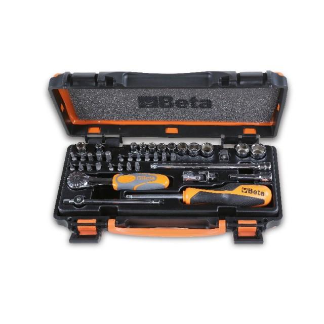 Sortiment aus 11 Sechskant-Steckschlüsseln, 20 Schraubeinsätzen und 8 Betätigungswerkzeugen, im Blechkasten - Beta 900/C11Z