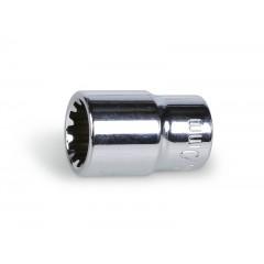 "Gear lock hand sockets, 1/4"" female drive, chrome-plated - Beta 900U"