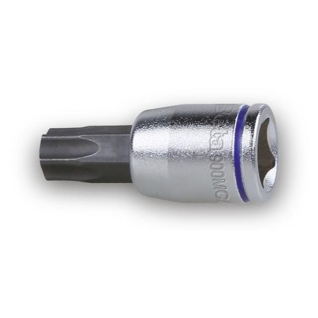 """Douille tournevis pour vis Torx®, colorée, carré femelle 1/4"""", chromée - embouts brunis - Beta 900MC/TX"""