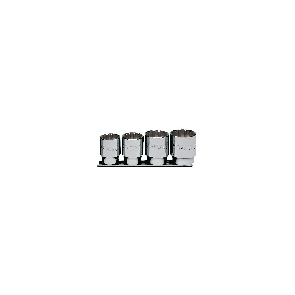 "Set of gear lock sockets, 1/2"" female drive, for hexagon screws, chrome-plated - Beta 920U/SB4"
