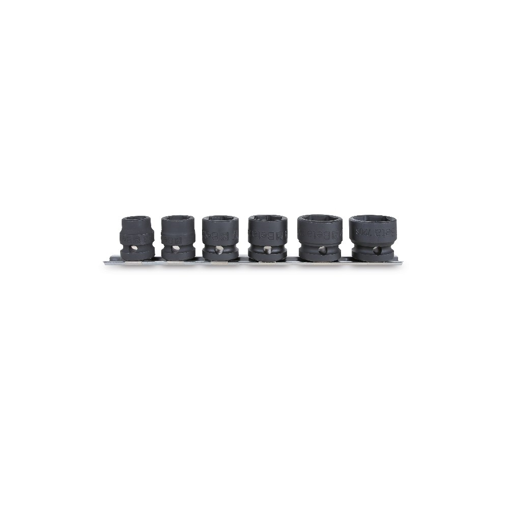 """Set of 6 impact sockets, compact series, 1/2"""" female drive, with hanging slide : 13 - 15 - 17 -19 - 22 - 24 mm - Beta 720S/SB6"""