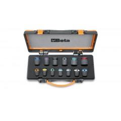 """13 gépi dugókulcs, 1/2""""-os, színezett, foszfátozott, fémdobozban - Beta 720MC/C13"""