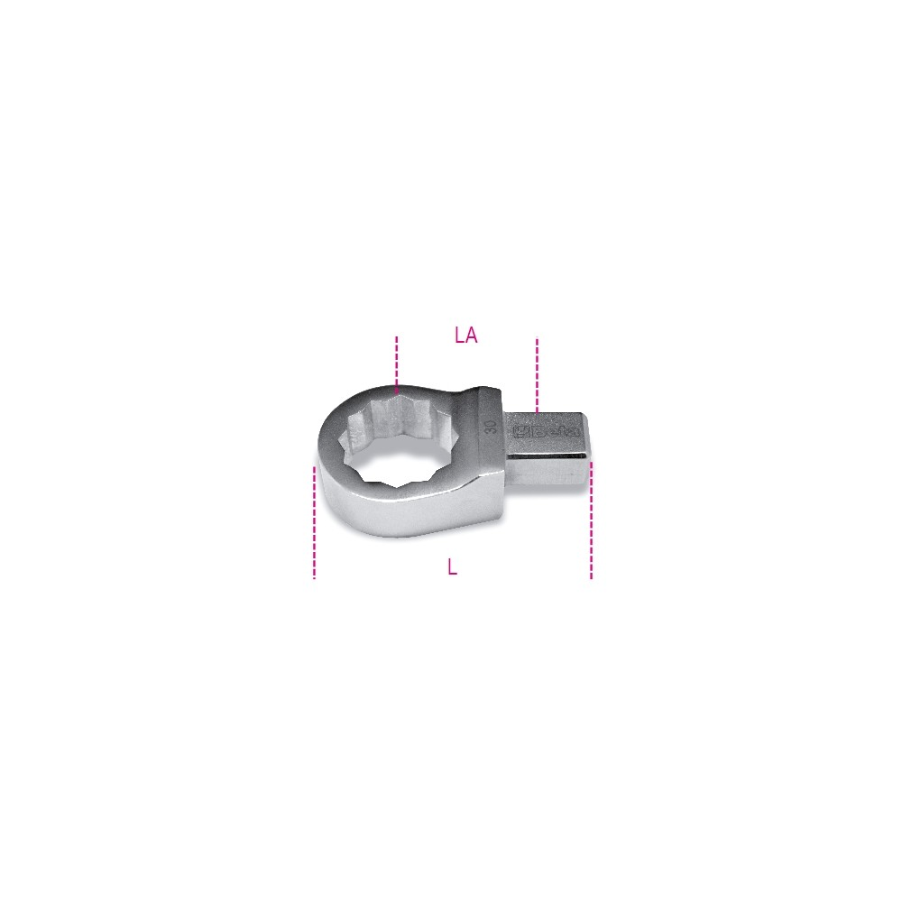 Ring wrenches for torque bars, rectangular drive - Beta 653