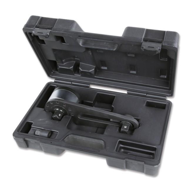 Multiplicateur de couple pour serrages à droite et gauche en coffret plastique rapport 3,8:1 avec système à cliquet anti-retour