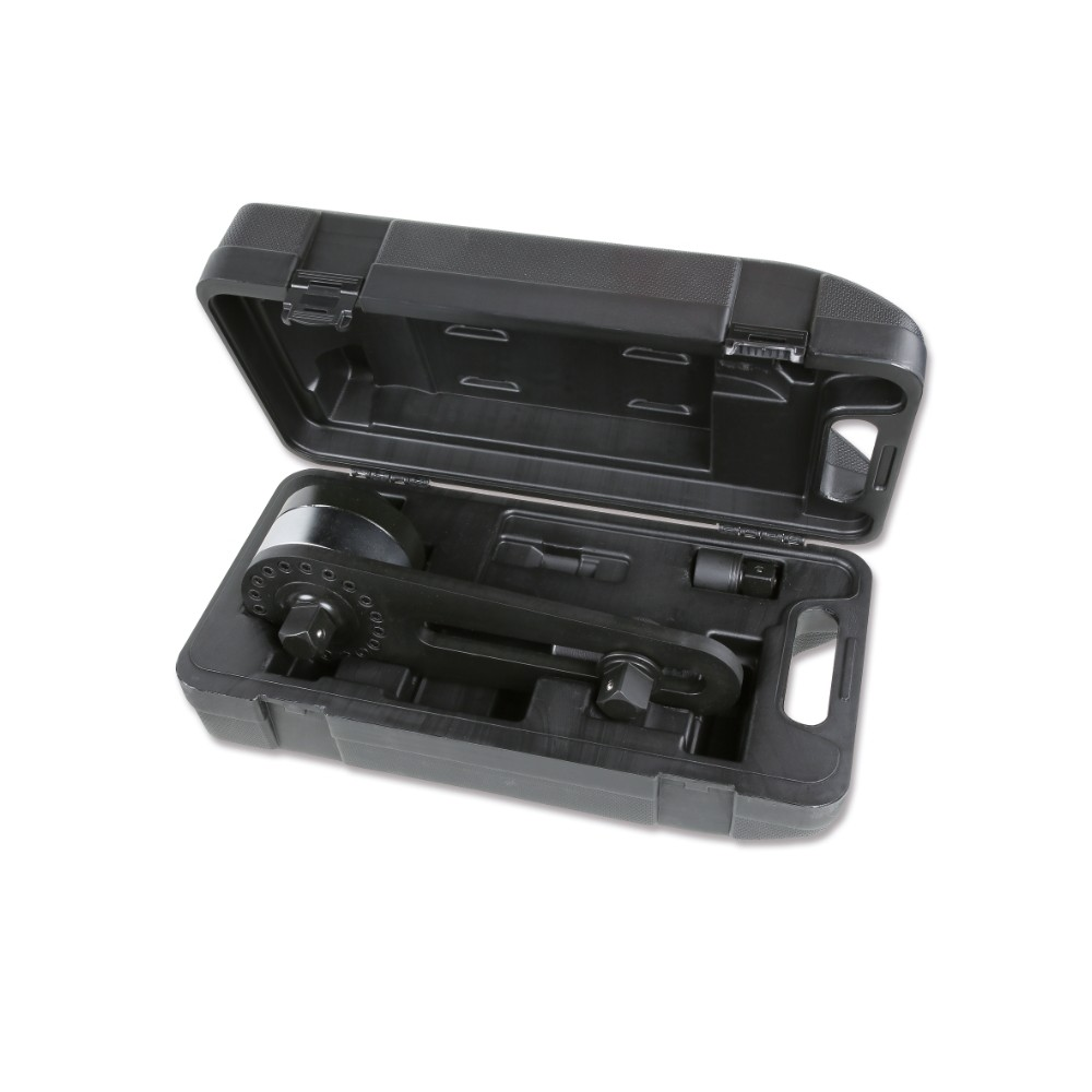 Moltiplicatore di coppia destrorso/sinistrorso in valigetta di materiale plastico rapporto 3,8:1 con dispositivo antiritorno -