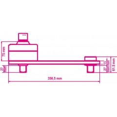 Nyomatéksokszorozó, jobb- és bal irányú meghúzáshoz, műanyag ládában, áttétel 3,8:1, visszaütésgátlóval - Beta 560/C3PLUS