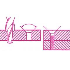 Wiertła kręte cylindryczne dwustopniowe 90°, do wykonywania otworów przelotowych i gniazd pod łby stożkowe śrub, HSS - Beta 420A