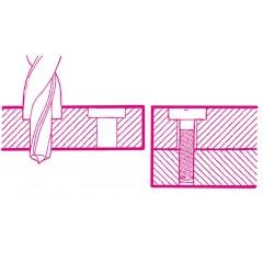 Punte a gradino ad eliche indipendenti per fori sedi viti 180°, in acciaio HSS, per fori passanti - Beta 420B