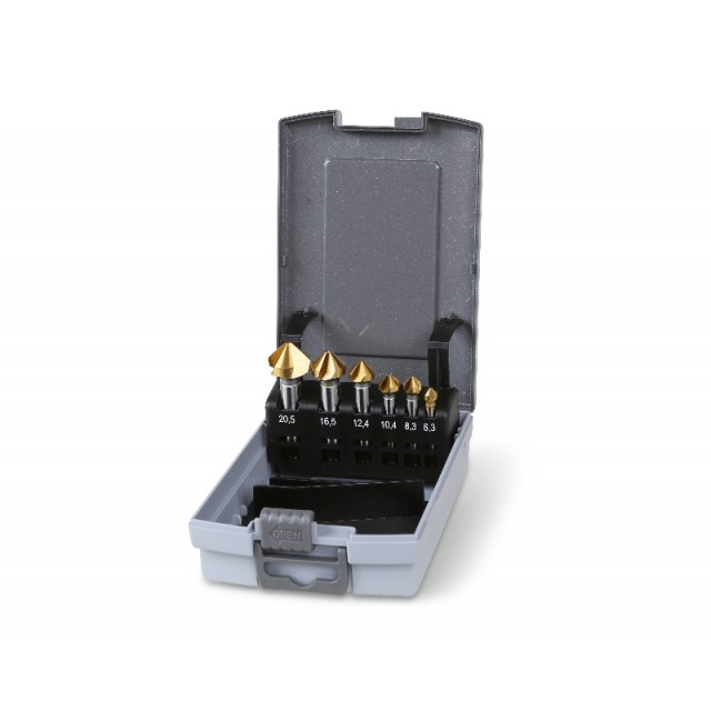 Set of countersinking cutters with three cutters, in ABS case - Beta 426T/SP