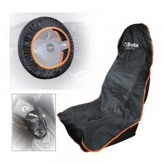 Zestaw osłon wielokrotnego użytku na fotel samochodowy, kierownicę i dźwignię zmiany biegów - Beta 2254K
