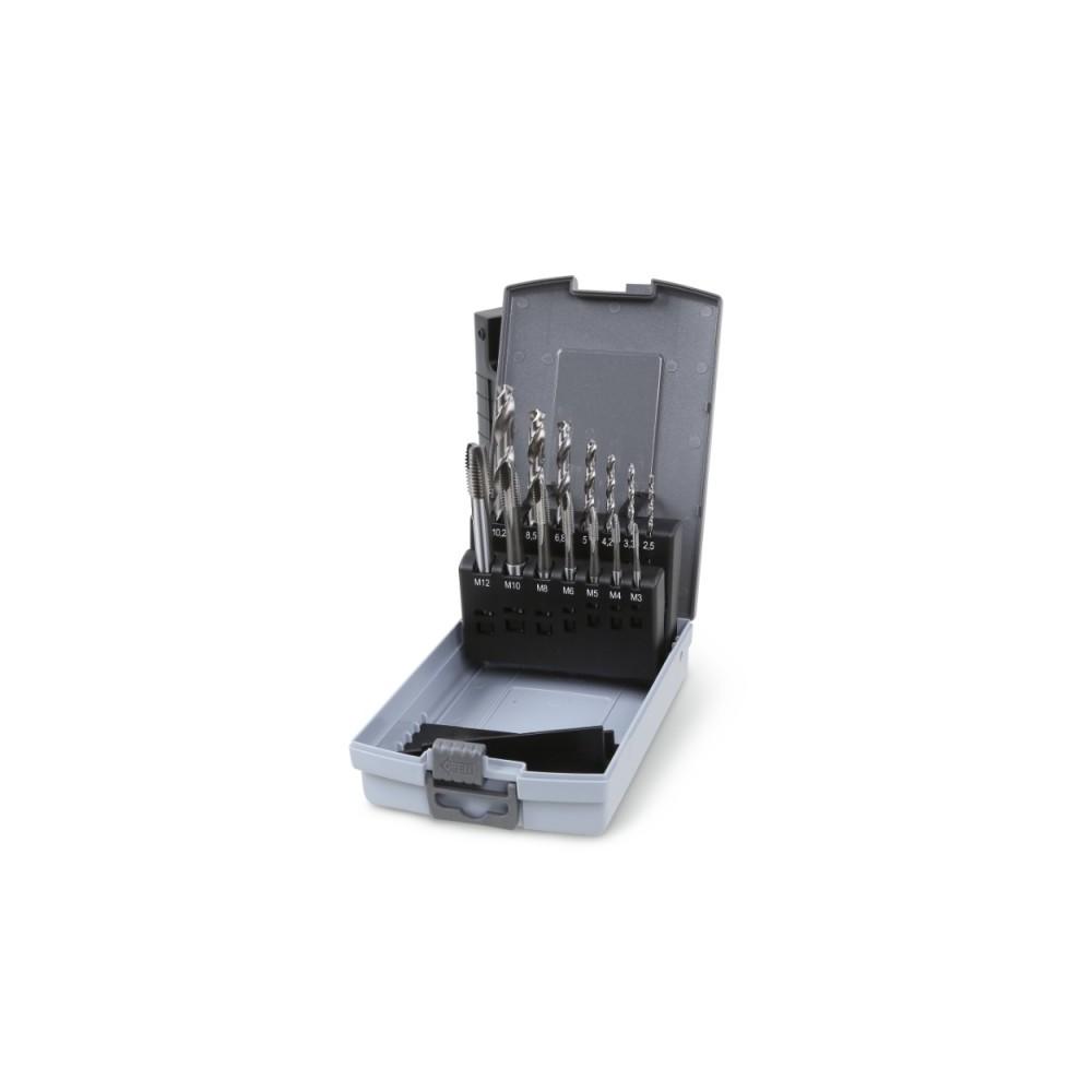 Set of 7 machine taps, ISO metric