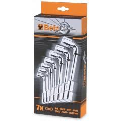 Serie di 7 chiavi a pipa doppie esagonali - Beta 933/S